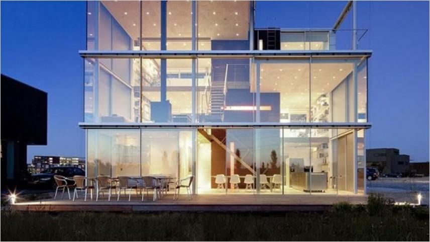 Rumah Kaca Transparan Modern Sangat Menakjubkan!