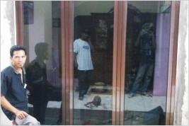 Pemasangan kusen aluminium dan kaca di Rumah Tinggal, Cimanggi