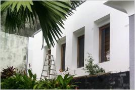 Pemasangan kusen aluminium dan kaca , Canopy kaca di Jl.Haji Raya