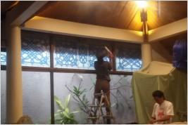 Pemasangan kusen aluminium dan kaca & Canopy kaca di Jl. Haji Raya